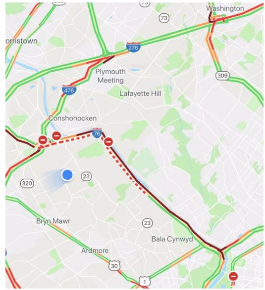I-76被封闭路段