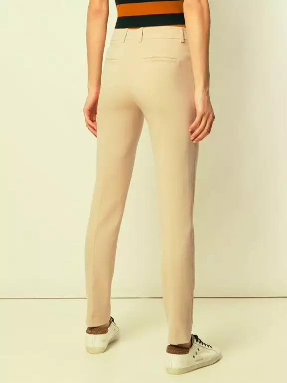 Akris奶油修身长裤3