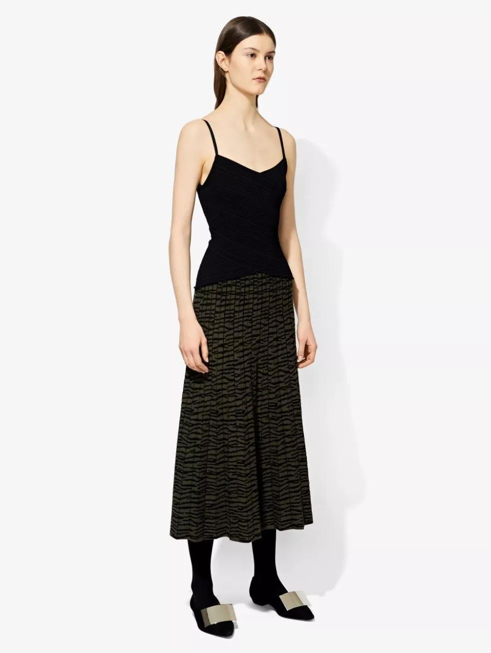 Proenza Schouler 虎纹提花针织裙1