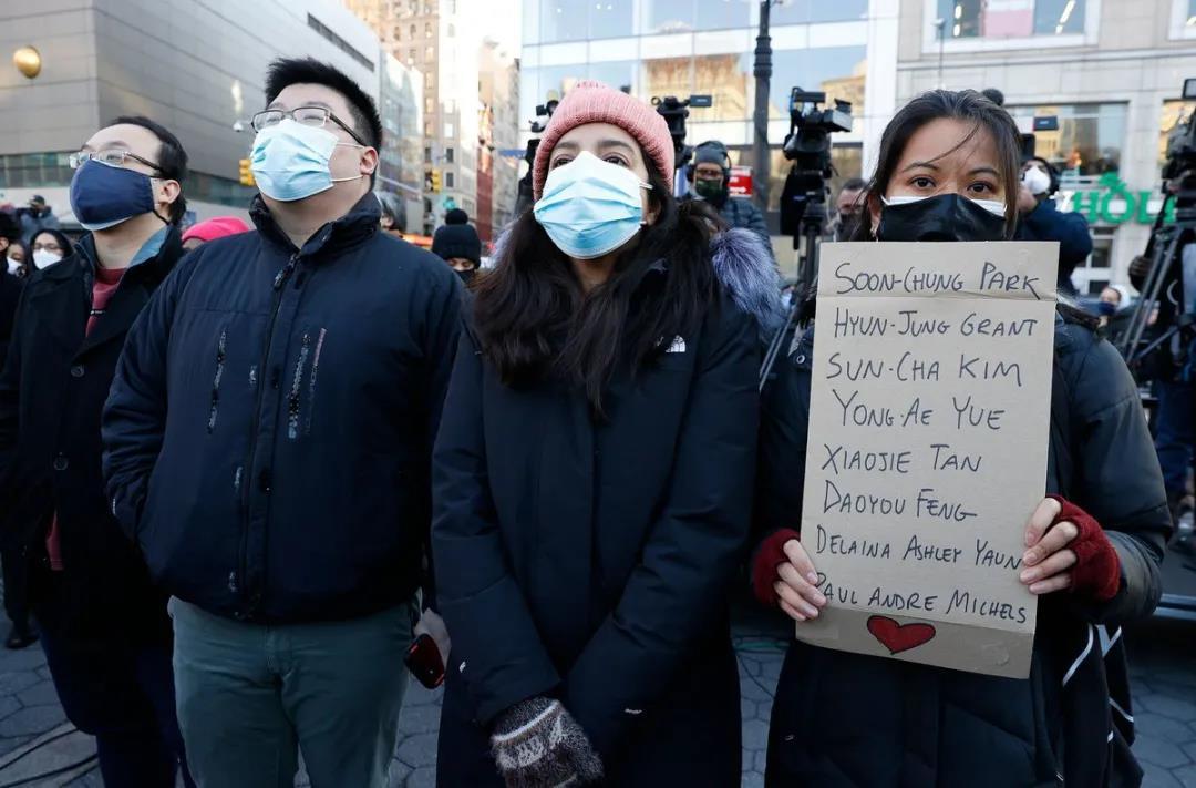 纽约示威人群