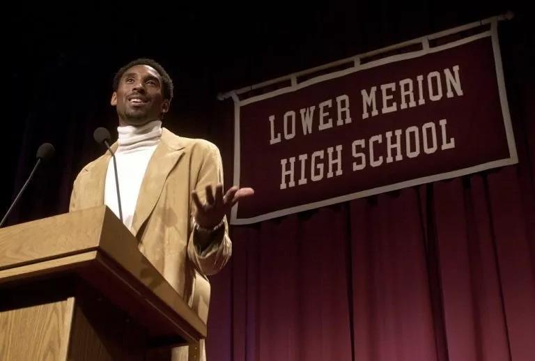科比成名后返校演讲