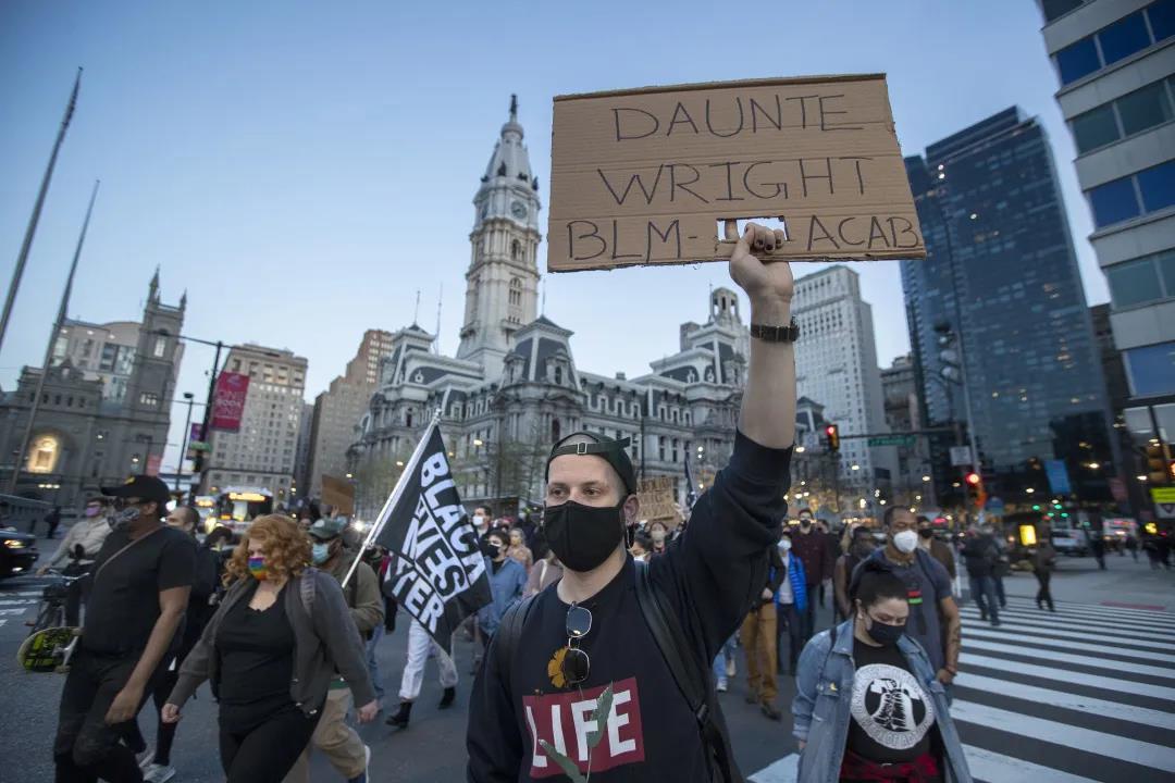 费城市中心抗议游行